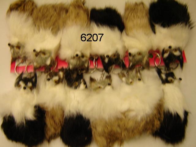ANAHTARLIK TÜYLÜ CİKLİ TİLKİ 12Lİ PAKET KOD 6207